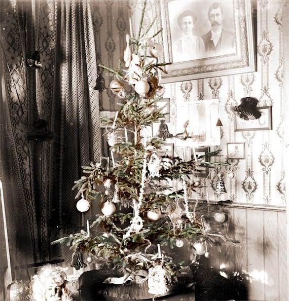 Vintage Christmas Tree: Items Similar To Old Fashioned Vintage Christmas Tree Fine