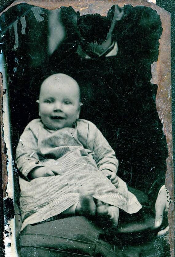 vintage photo tintype Hidden Mother