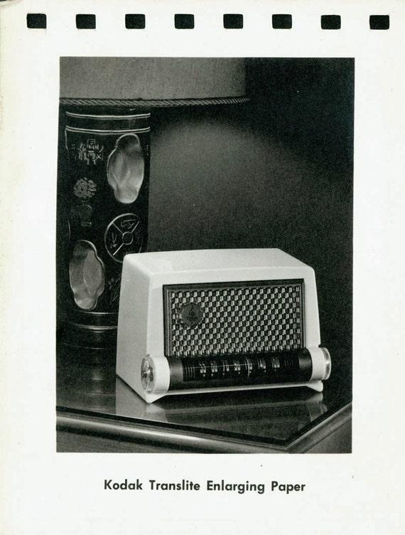 vintage photo Nite Lite Rare Kodak Photo Paper Sample Translite Transluscent Light paper RARE RAdio
