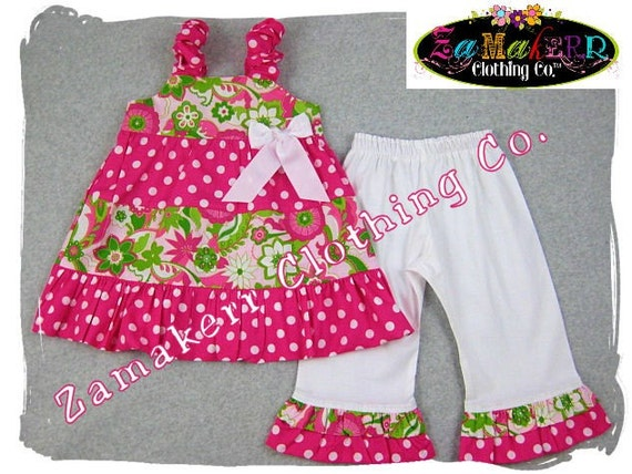 Custom Boutique Girl Clothes Floral Tiered Dress Top White Ruffle Pant Outfit Set 3 6 9 12 18 24 month size 2T 2 3T 3 4T 4 5T 5 6 7 8