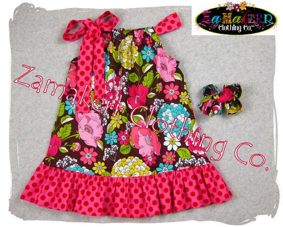 Pillowcase Dresses - Springtime Garden Floral - Pillowcase Dresses in Sizes 3, 6, 9, 12, 18, 24 month, 2, 2t, 3t, 3, 4, 4t, 5, 6, 7, 8