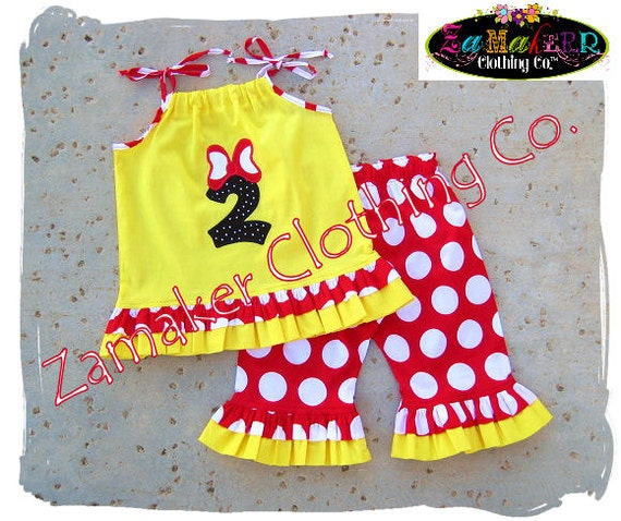Girl Minnie Mouse Outfit - Minnie Mouse Birthday Outfit - Girl Minnie Mouse Outfit Pant Set 3 6 9 12 18 24 month 2T 2 3T 3 4T 4 5T 5 6 7 8