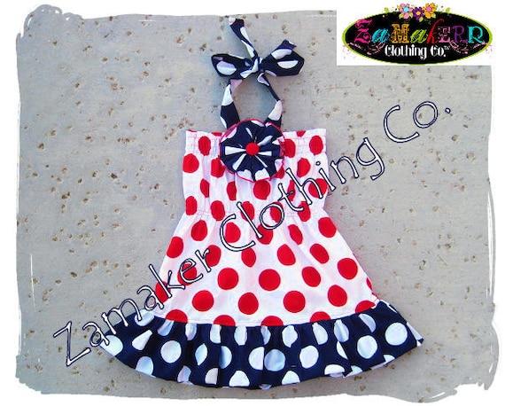 4th of July Dress Girl - Patriotic Dress - Memorial Day Dress - Fourth of July Dress 3 6 9 12 18 24 month size 2T 2 3T 3 4T 4 5T 5 6 7 8