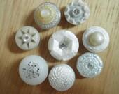 Snowflake Vintage Button Magnet Set
