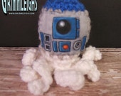 Star Wars  Inspired R2D2 Hand Painted Crocheted Baby Squidleigh