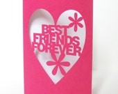 Best Friends Forever Hand Cut Greeting Card