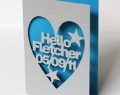 Personalised Papercut Greetings Card For Any Occasion - Hand Cut To Order