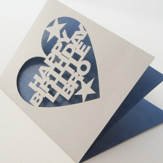 Personalised Hand Cut Greetings Card for Birthday Wedding or Any Occasion