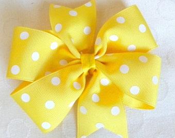 Polka Dot Pinwheel Bow- You Choose Color