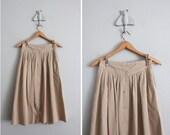 1970s vintage fallow cotton high waist skirt