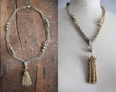 1970s vintage metal tassel necklace