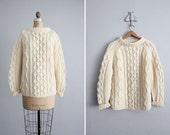 1950s vintage Italian wool fishermans sweater