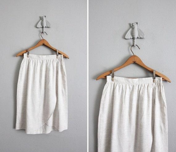 RESERVED 1980s vintage neutral heather tulip skirt