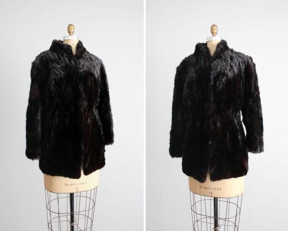 1950s vintage dark mink fur coat