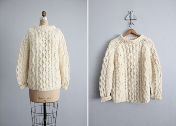 1950s vintage Italian wool fishermans sweater