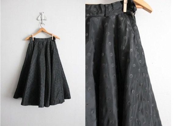 1950s vintage glitter dot circle skirt