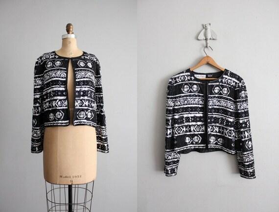 final sale / vintage new wave sequined jacket