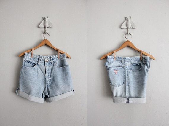 vintage Guess cut off denim shorts
