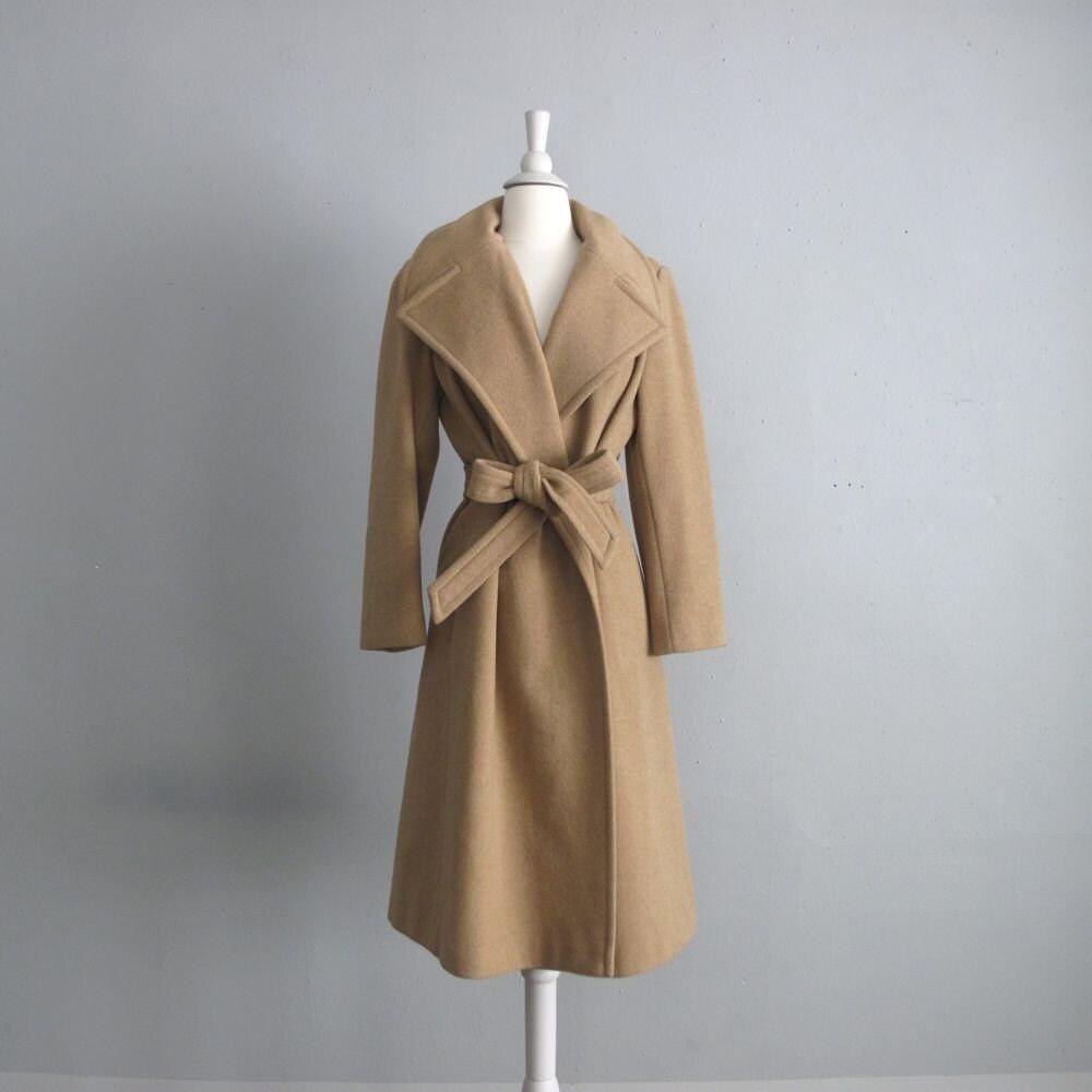 1960s Vintage Camel Wrap Coat By Allencompany On Etsy