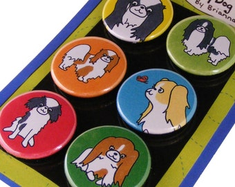 Japanese Chin Silly Dog Magnet Set