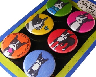 Boston Terrier Magnet set