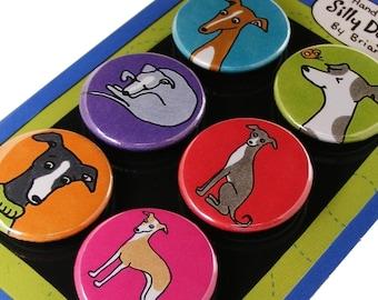 Italian Greyhound Magnet set
