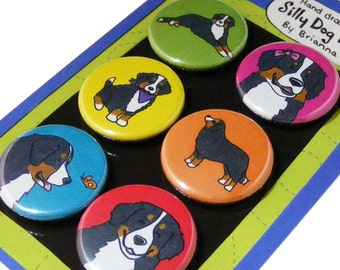 Bernese Mountain Dog Silly Dog Magnet Set