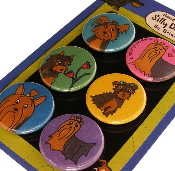 Yorkshire Terrier Magnet Set- Yorkie