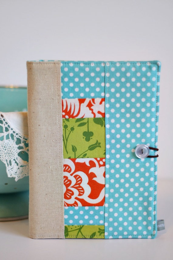 List Taker / Patchwork Covered Notebook (READY TO SHIP)