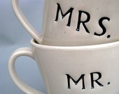 Mr and Mrs Stoneware Cups