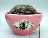 Yarn Bowl - Lock and Key Bowl - Steampunk - Hand sculpted wheel thrown porcelain and stoneware pottery