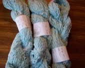 3 light Blue cotton Yarn Reclaimed
