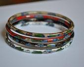 vintage enamel bracelets