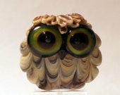 Wide Eyed Lampwork Owl Bead - juliechristie