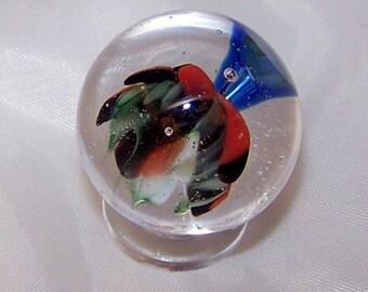 Lampwork SRA Marble, Handmade Soft Glass Marble ' Trumpet '