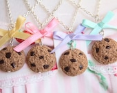 Collier Cookie - 1 x Noeud rose