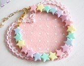 Fairy Kei Pastel Stars Bracelet