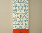 Block Printed Coat or Bag Rack