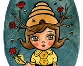 Bee Girl - Limited Edition Print