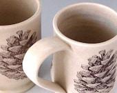 Pine Cone Mug - Hand Thrown Stoneware
