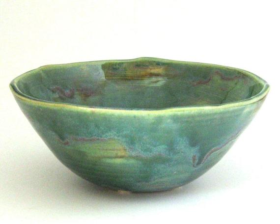Serving Bowl -  Wheel Thrown Stoneware Pottery