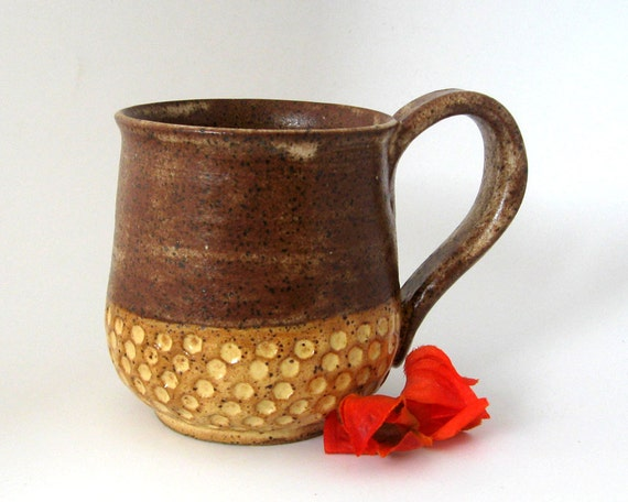 Coffee Mug - Honeycomb Series  - Hand Crafted Stoneware Pottery