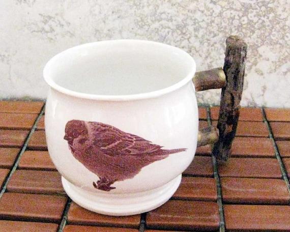 Tree Sparrow Mug - Hand Thrown Stoneware