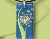 Spring Dandelion Glass Jewelry - GeoForms-Reversible Glass Art