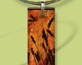 Prairie Sunrise Glass Necklace - GeoForms Glass-Reversible Art