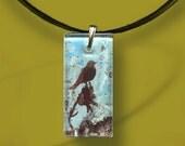 Robins Egg Blue Necklace - GeoForms Reversible Glass Art