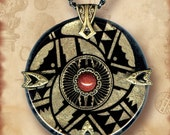 Medicine Wheel Glass Necklace - Symbolz Shimmerz - The Ancient Mysteries Collection - Sacred Hoops