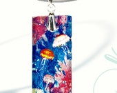 AquaForms-Reversible Glass Art Necklaces- Sea Jellies Bloom