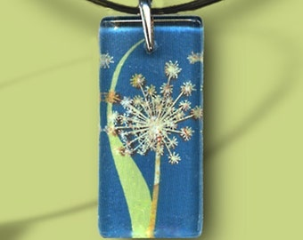 Spring Dandelion Glass Jewelry - GeoForms-Reversible Glass Art