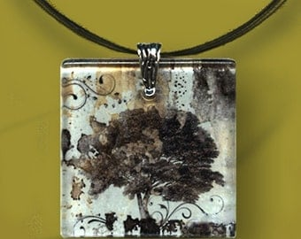 Tree of Life Necklace - GeoForms-Reversible Glass Art